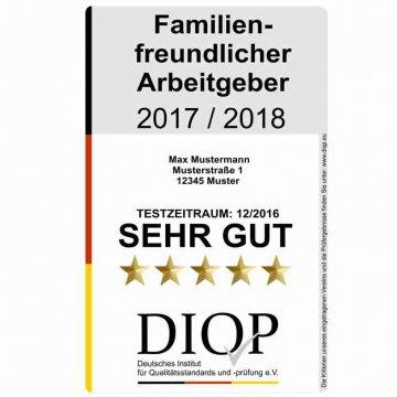 Familienfreundlicher Arbeitgeber (DIQP) das Gütesiegel für familienfreundliche Unternehmen