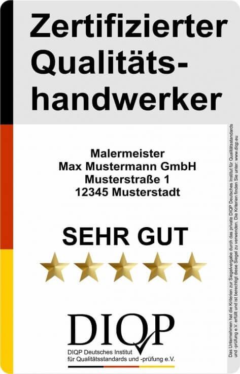 Das Qualitätssiegel für zertifizierte Handwerker