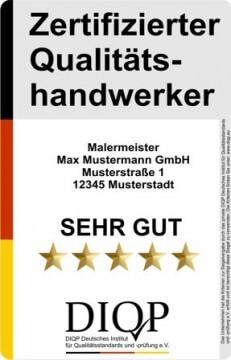 Qualitätssiegel DIQP zertifizierter Qualitätshandwerker