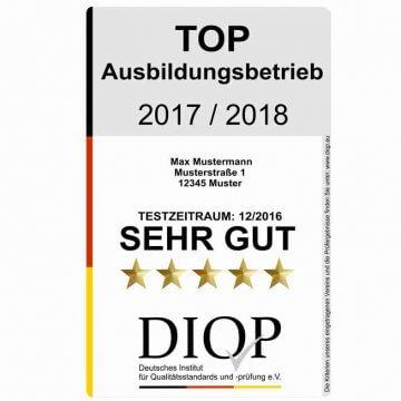Top Ausbildungsbetrieb (DIQP) ist das Gütesiegel für Ihren Ausbildungsbetrieb