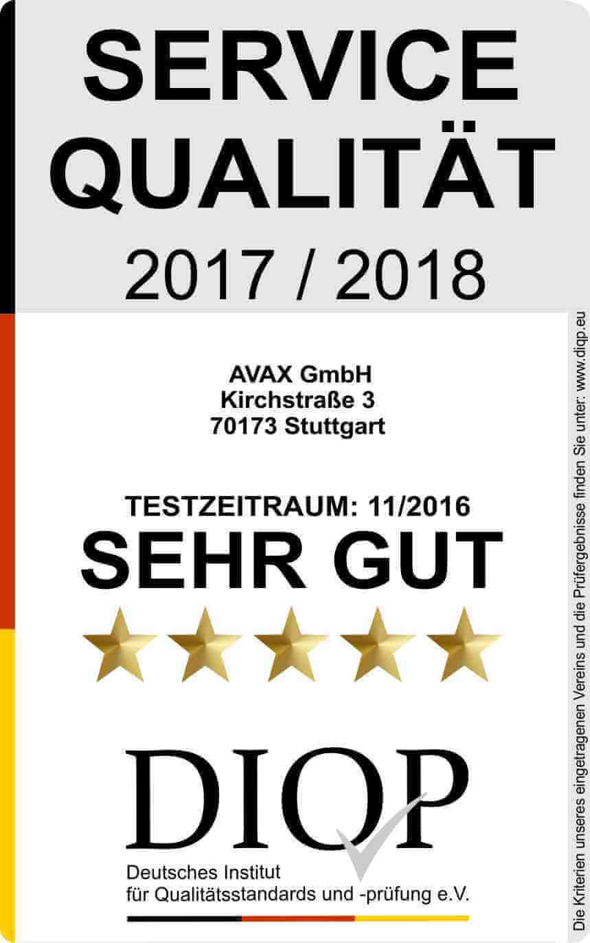 AVAX GmbH - Geprüfte Servicequalität (DIQP)