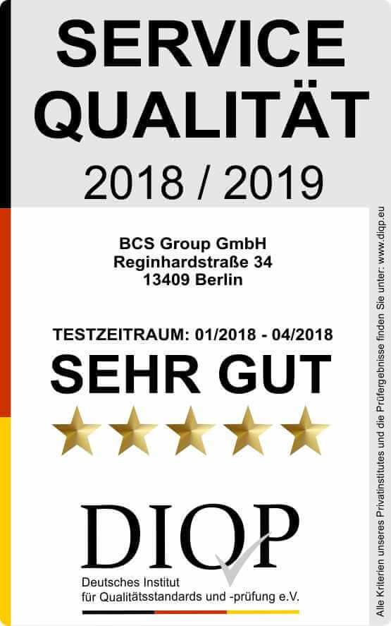 Servicequalität 2018-2019