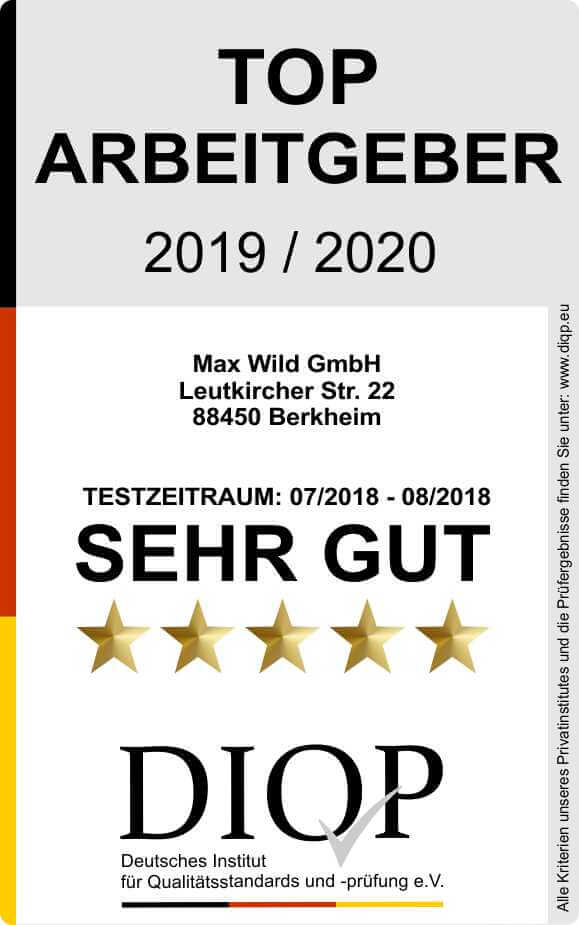 Top Arbeitgeber Max Wild 2019-2020 klein