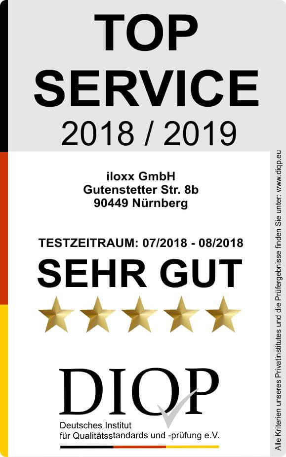 Top Service (DIQP) Siegel 2018-2019 mittel