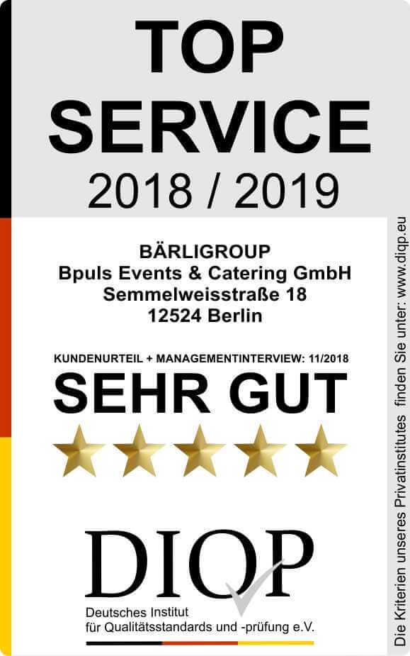 Top Service (DIQP) Siegel Bärligroup 2018-2019 klein