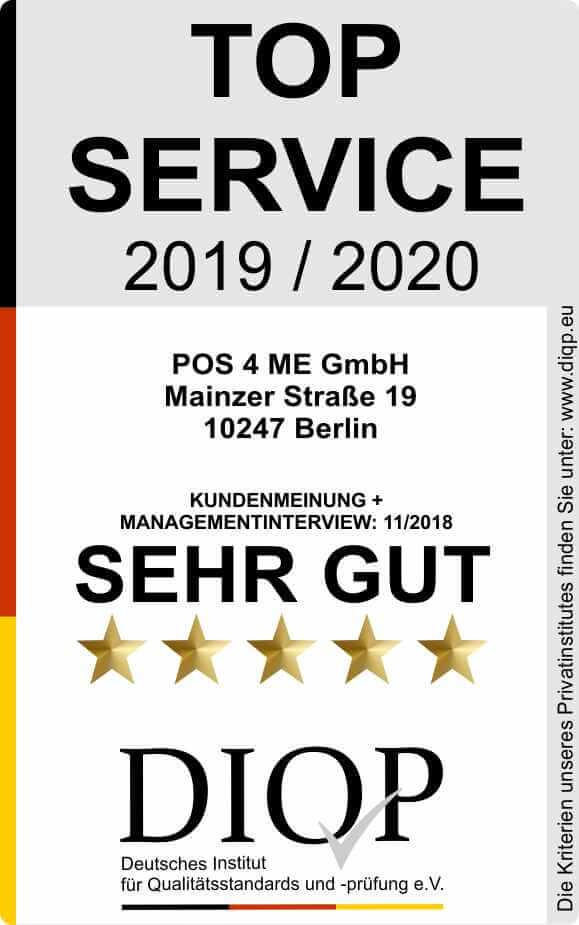 Top Service (DIQP) Siegel POS4ME 2019-2020 klein