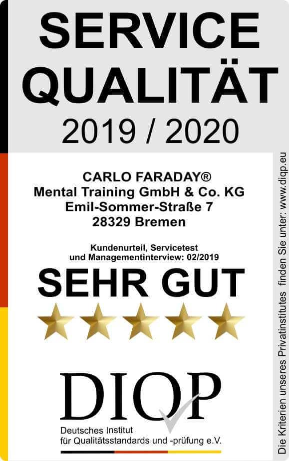 Geprüfte Servicequalität (DIQP) Carlo Faraday kl