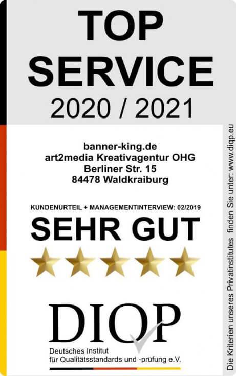 Top Service (DIQP) Siegel Banner King2klein