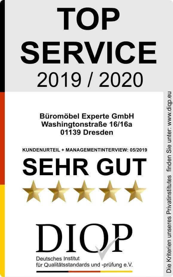Top Service (DIQP) Büromöbel Experte 2019 2