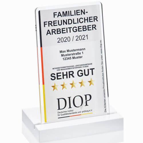 Arbeitgebersiegel Familienfreundlicher Arbeitgeber vom DIQP