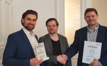 RA Lev Lexow, RA Alex Goldberg und Oliver Scharfenberg (v.l.n.r.)